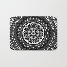 Black and White Mandala Bath Mat