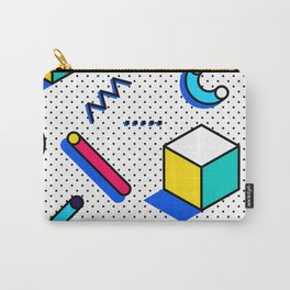 Patern in memphis, pop art style Carry-All Pouch