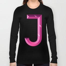 Crystal 'J' Long Sleeve T-shirt