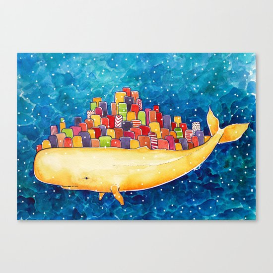 Snow Whale Canvas Print
