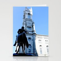 onward Stationery Cards featuring Onward (Philadelphia) by Julie Maxwell