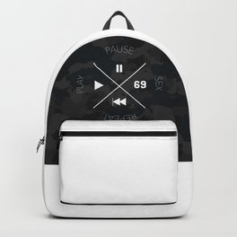 Play, pause, sex, repeat Backpack