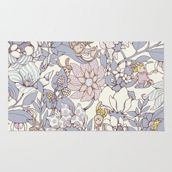 Garden party - jasmine tea version Rug