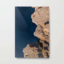 Rock and blue ocean Hawaï | The Big Island Kona, vulcano | Photo Print | pastel - travel - photography - art print Metal Print