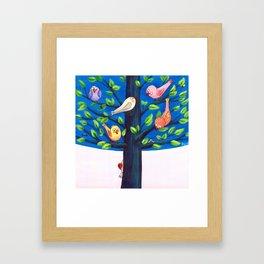 Birdy Tree Framed Art Print