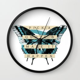 Butterfly Quote Wall Clock