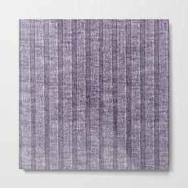 Lilac Jersey Knit Pattern Metal Print