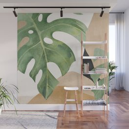Abstract Art Tropical Leaves 3 Wall Mural