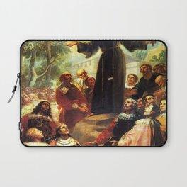 Francisco de Goya - San Bernardino of Siena preaching before Alfonso V of Aragon Laptop Sleeve