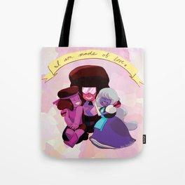 I Am Made of Love - Garnet Print Tote Bag