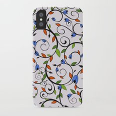 Floral Vines and Buds iPhone X Slim Case