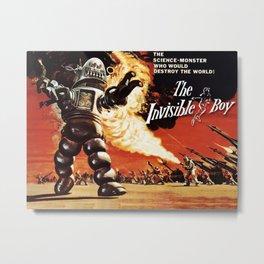 Retro Sci-Fi - The Invisible Boy Metal Print