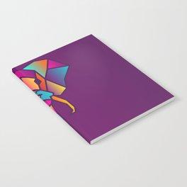 Elephant   Geometric Colorful Low Poly Animal Set Notebook