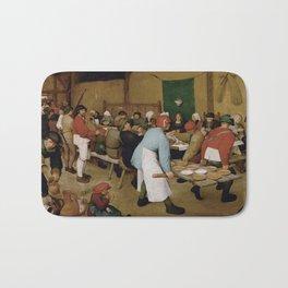 Peasant Wedding by Pieter Bruegel the Elder Bath Mat
