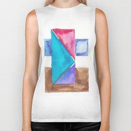 180818 Geometrical Watercolour 8| Colorful Abstract | Modern Watercolor Art Biker Tank