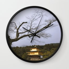 Golden Pavillion in Kyoto, Japan Wall Clock