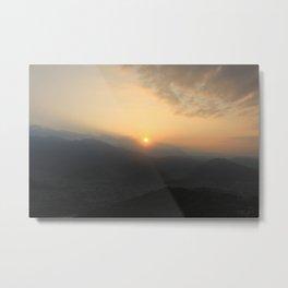 Sunrise in Pokhara Metal Print