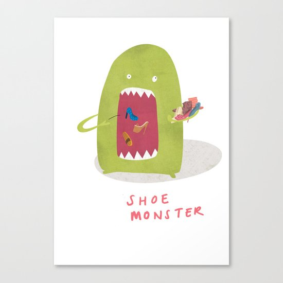Shoe Monster Canvas Print