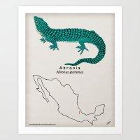 Abronia graminea Art Print