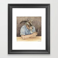 Goat Dad II Framed Art Print
