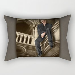 william watching Rectangular Pillow