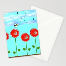 Sunflowers and bee Stationery Cards
