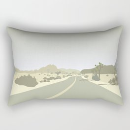 Joshua Tree Park - On the road Rectangular Pillow