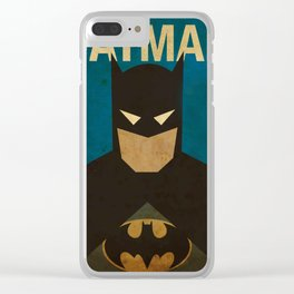 BatMans minimalist Gotham Artwork Clear iPhone Case