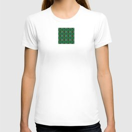Snowflakes III in Greens T-shirt