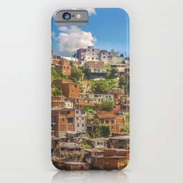 Favelas at Hill, Medellin, Colombia iPhone Case