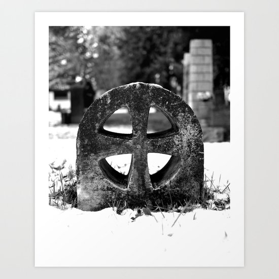 Winter cross Art Print