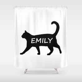 Emily Cat Shower Curtain