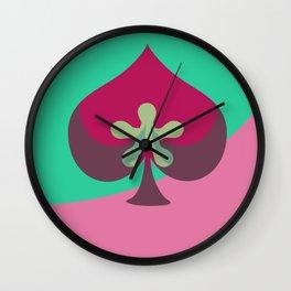 Abstract Spade Wall Clock