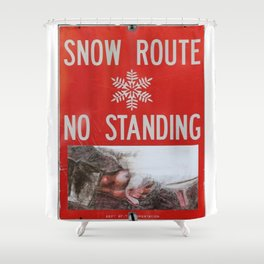 Snow-Den; by, JAco Shower Curtain