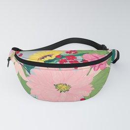 Elegant Watercolor Sunflowers Blush Floral Gray Design Fanny Pack