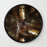 writing Wall Clocks featuring Night Writing by Sky iouan