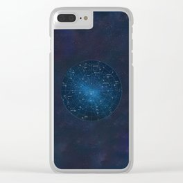 Star Constellations Map Outer Space Clear iPhone Case