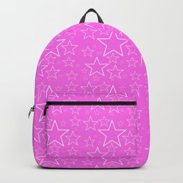 White and Pink Stars Backpack
