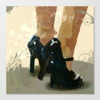heels Canvas Prints featuring Heels by Tom Britton