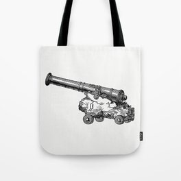 Gun in the tower recovered from the wreck The Popular History of England (1856) by Charles Knight Tote Bag