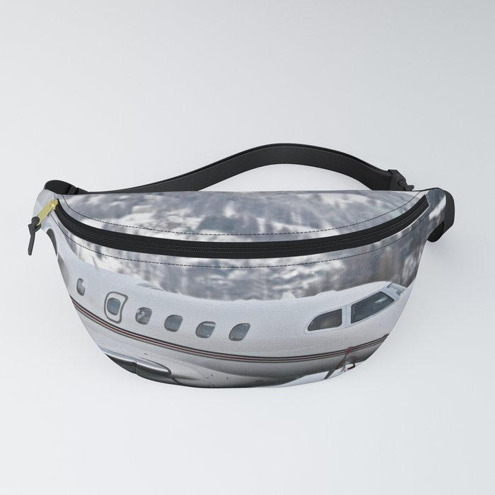 Private Jet & Snowy Mountains Fanny Pack