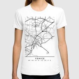 VENICE ITALY BLACK CITY STREET MAP ART T-shirt