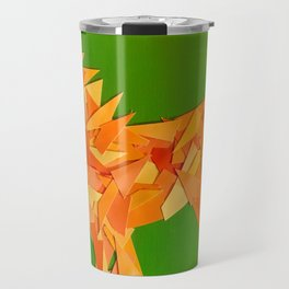 Lion collage of paint samples Travel Mug
