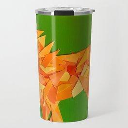 Lion collage of paint samples Travel Mug