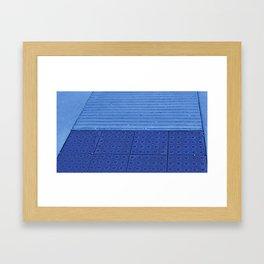 Blue Ramp Framed Art Print