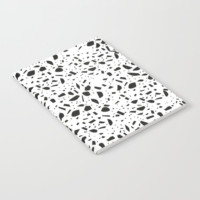 Terrazzo Black And White Seamless Pattern Notebook