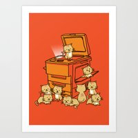 kitten Art Prints featuring The Original Copycat by Picomodi