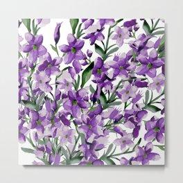 Lilac. Watercolor Metal Print