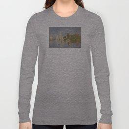 Claude Monet Regattas at Argenteuil Long Sleeve T-shirt