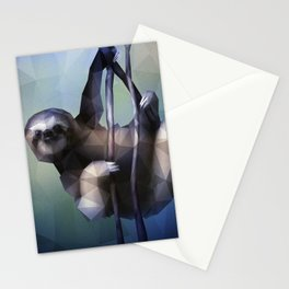 Sloth (Low Poly Cool) Stationery Cards